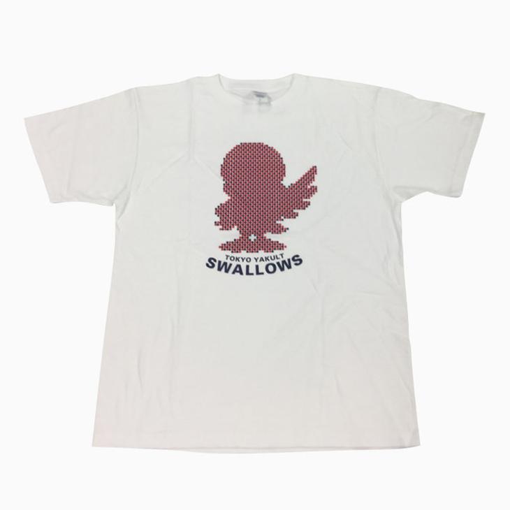 シルエットつば九郎 Tシャツ(ホワイト)