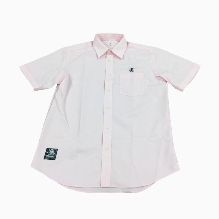 ブロードシャツ(刺繍)ライトピンク