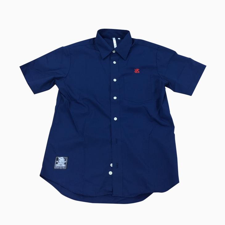ブロードシャツ(刺繍)ネイビー