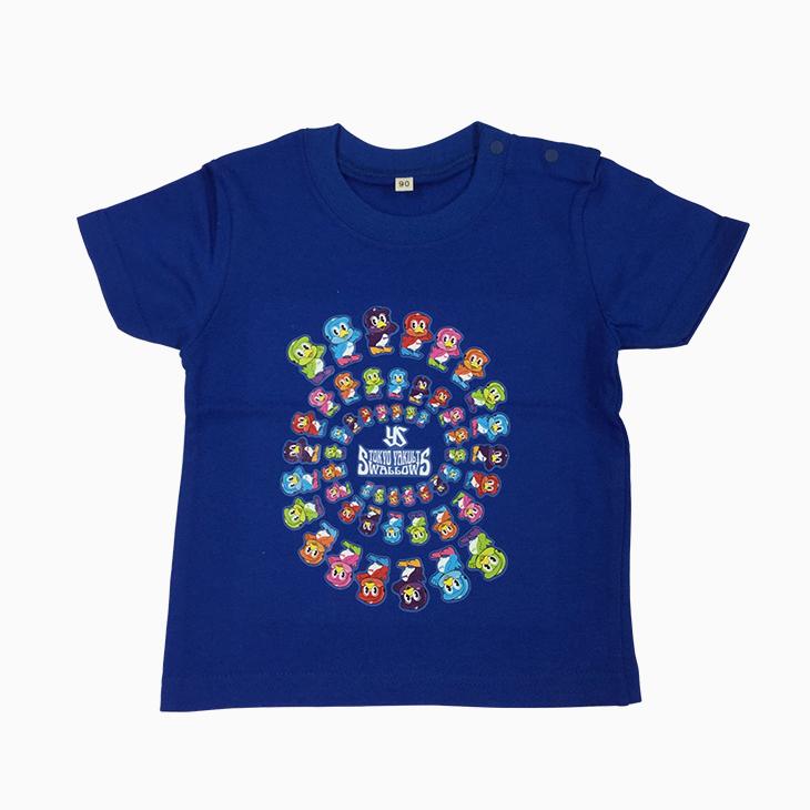 キッズTシャツ(カラフルつば九郎)ロイヤルブルー