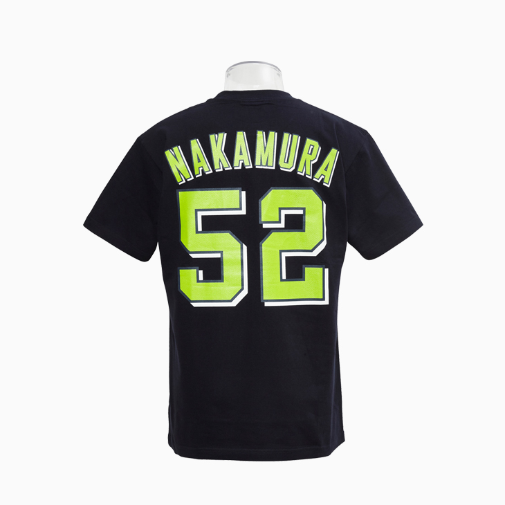 ネーム&ナンバーTシャツ(ビジター)52中村
