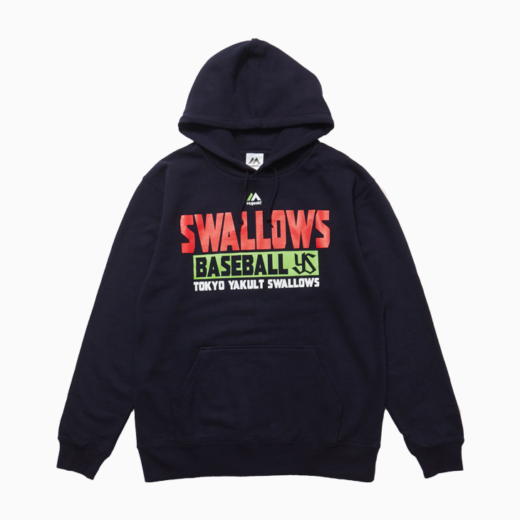 [majestic]SWALLOWS BASEBALLロゴパーカー(ネイビー)