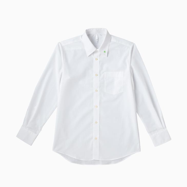 ロゴ入りブロードシャツ(ホワイト)