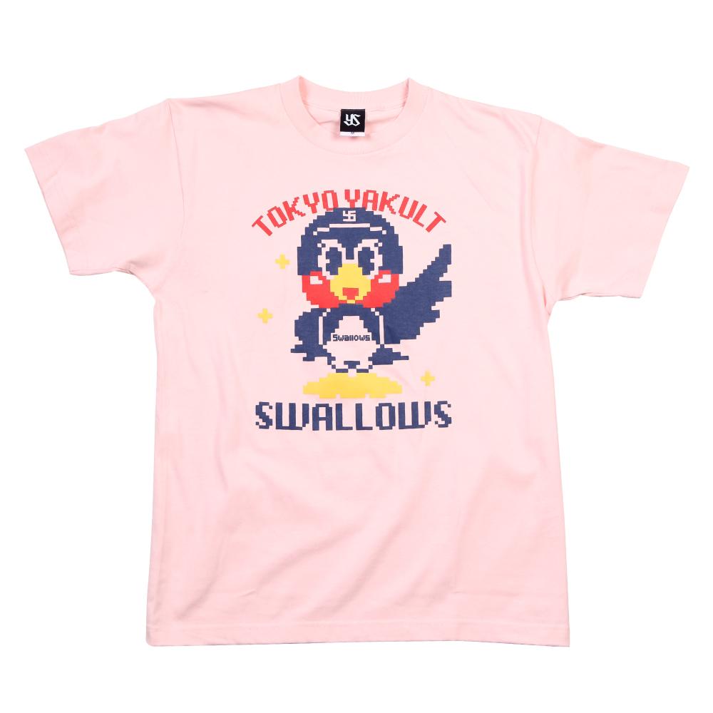 つば九郎ドットTシャツ(ライトピンク)