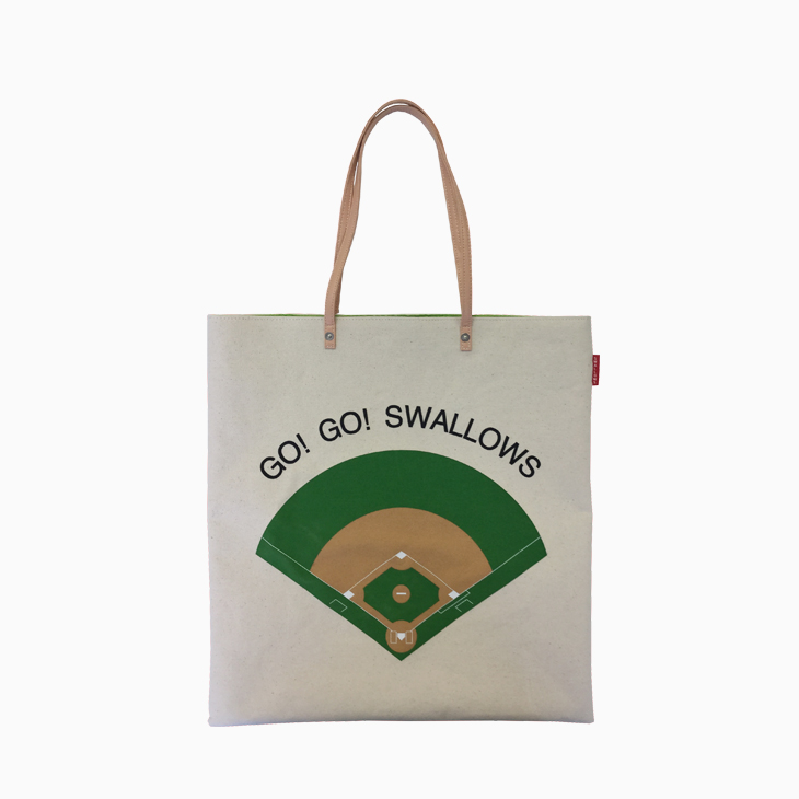 「GO! GO! SWALLOWS」トートバッグ