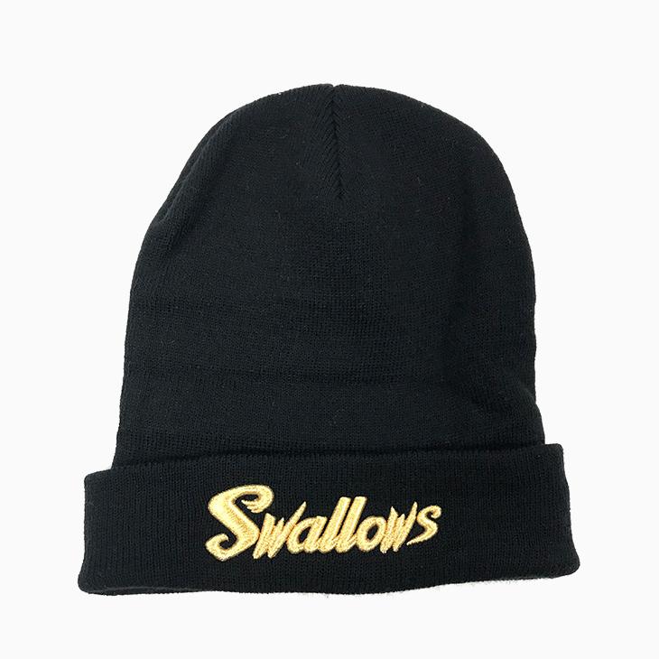 Swallowsニットキャップ(ブラック)