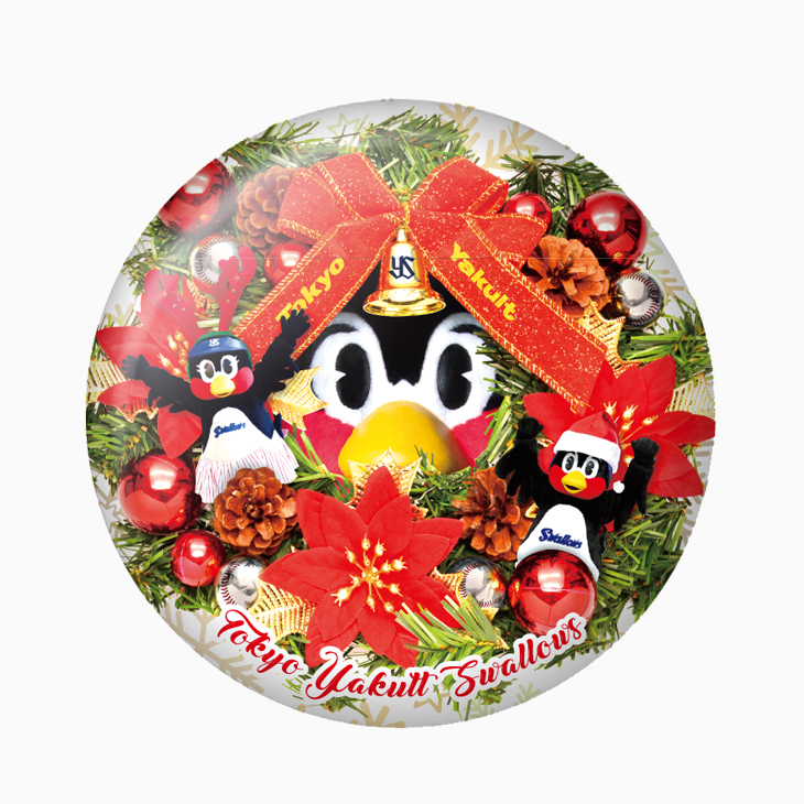 つば九郎クリスマスドデカ缶バッジ