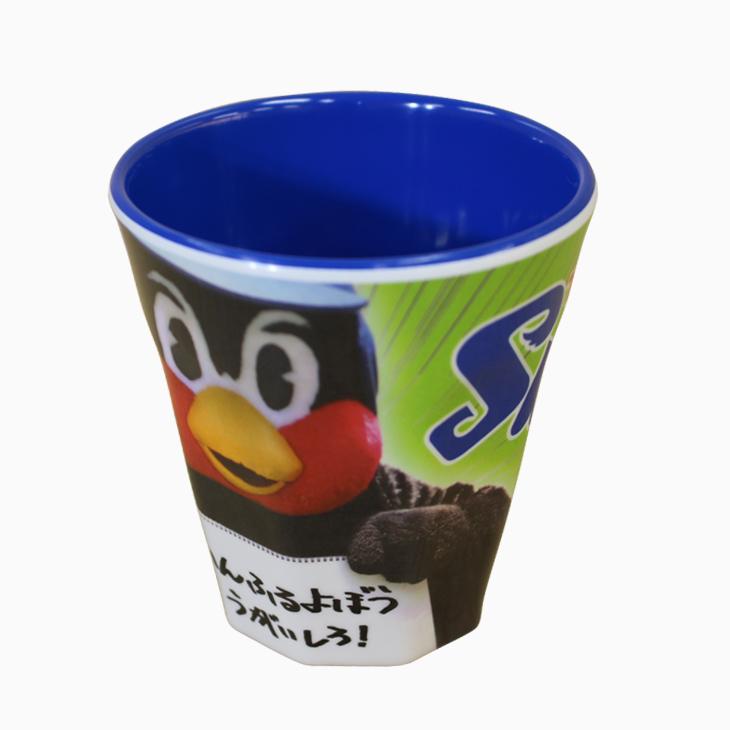 メラミンカップ(つば九郎写真)