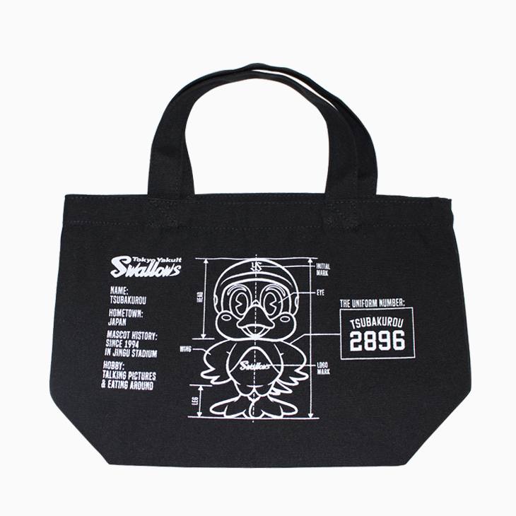 ミニトートバッグ(つば九郎ブラック)