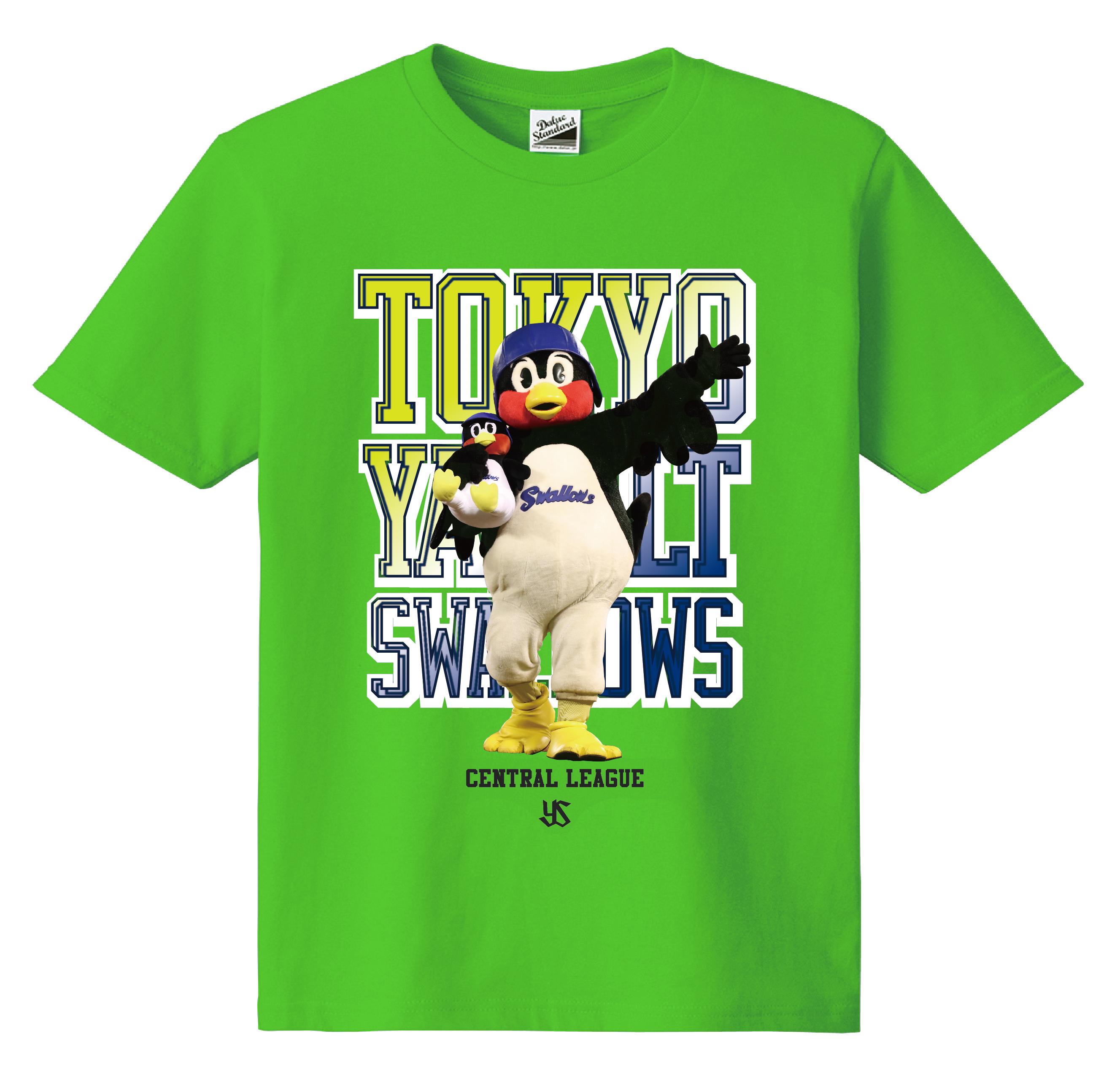 つば九郎フォトカラーKidsTシャツ(ライム)