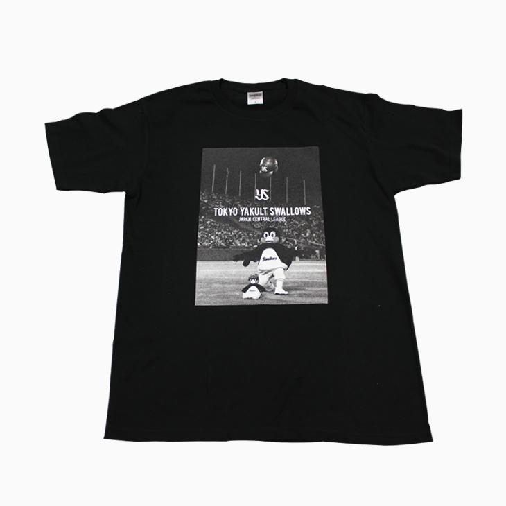 つば九郎フォトTシャツ(ブラック)
