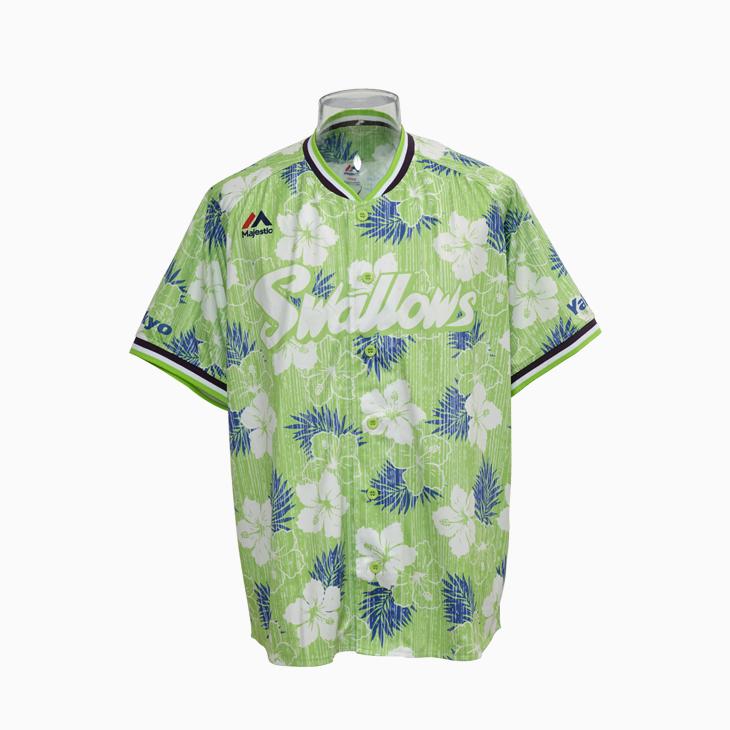 アロハ柄ベースボールシャツ