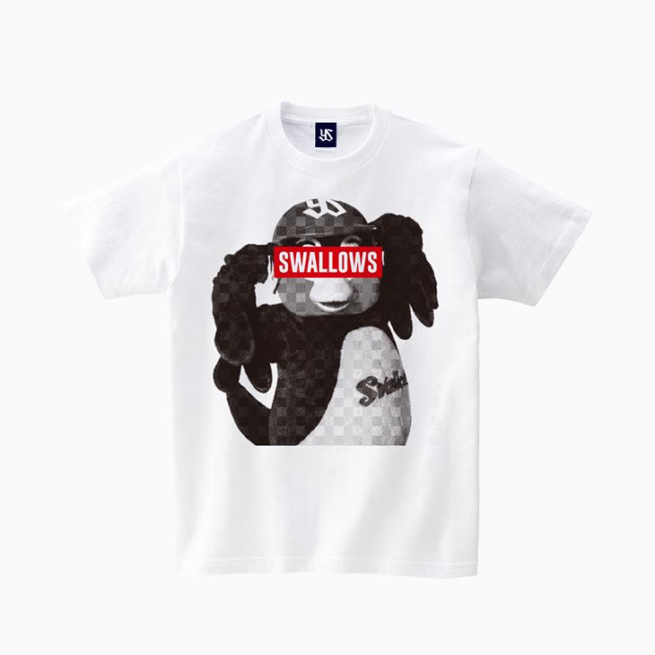 つば九郎モノトーンTシャツ