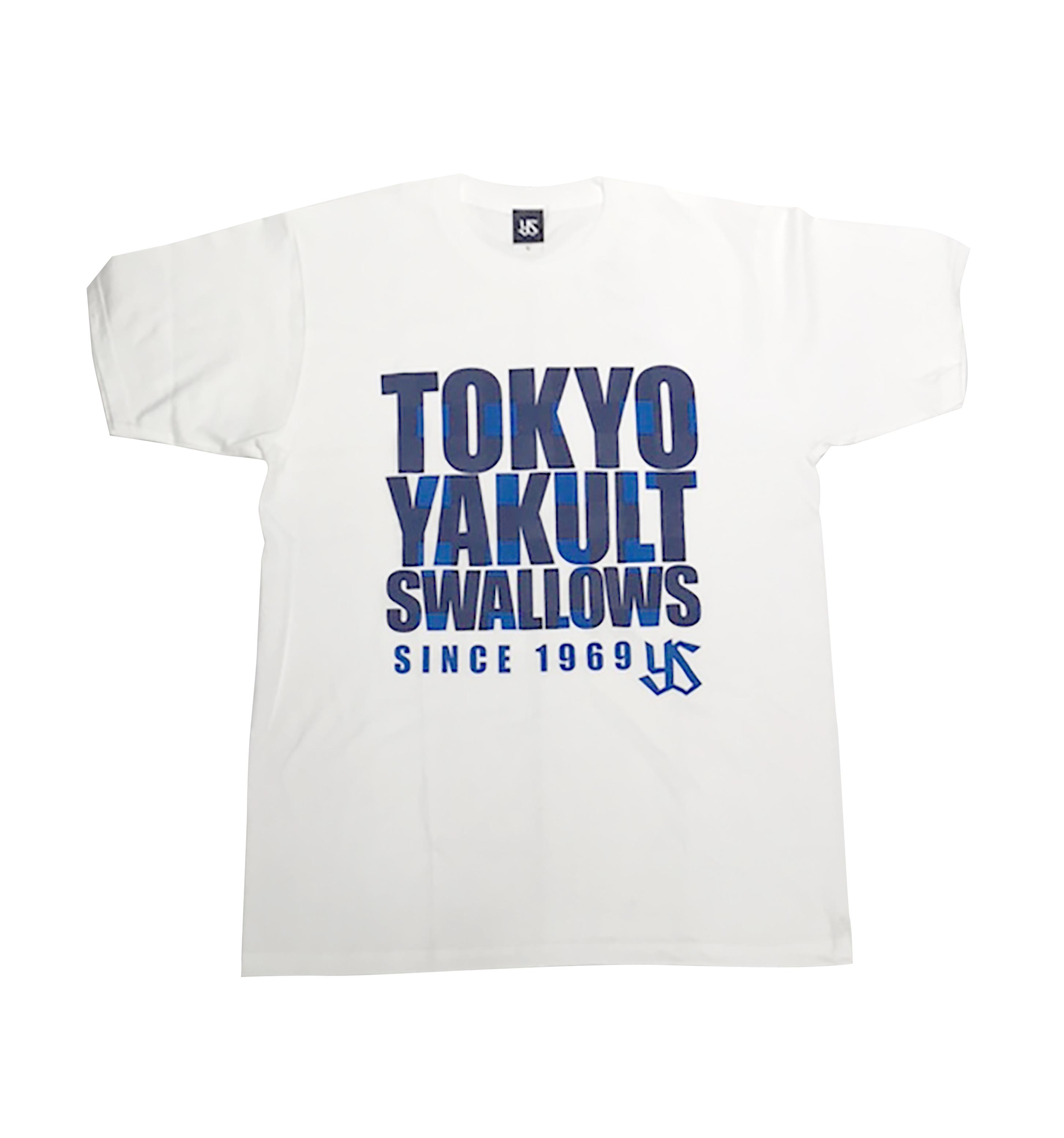 SwallowsブロックチェックロゴTシャツ