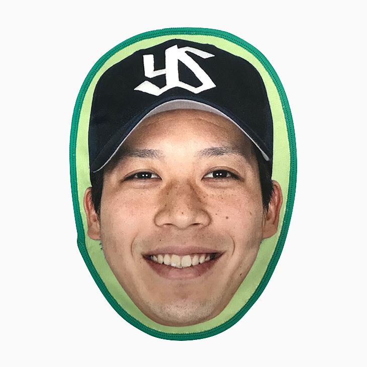 選手の顔タオル