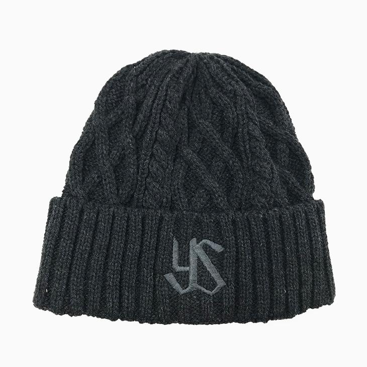 編み込みニット帽