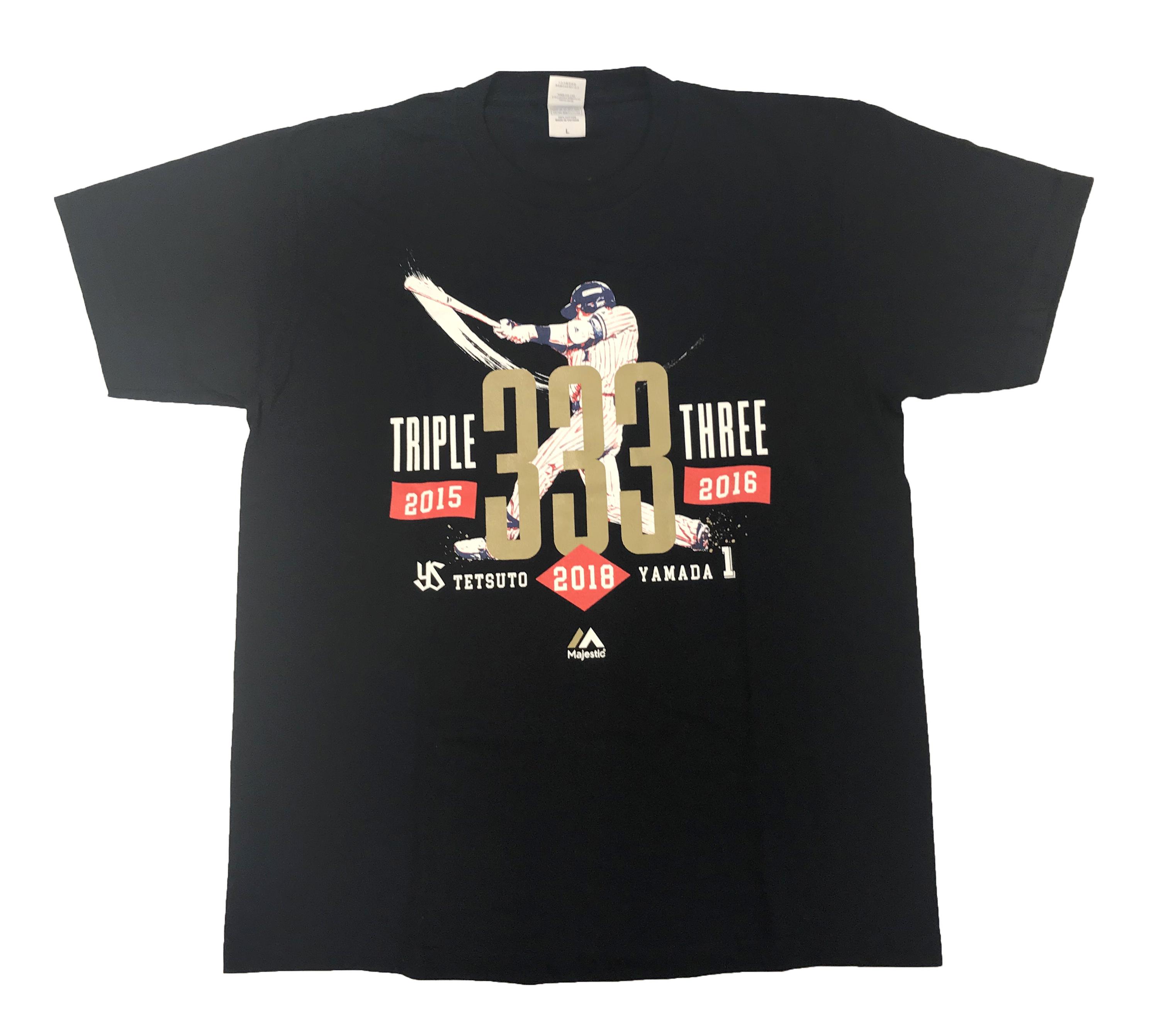 山田哲人トリプルスリーTシャツ 2018