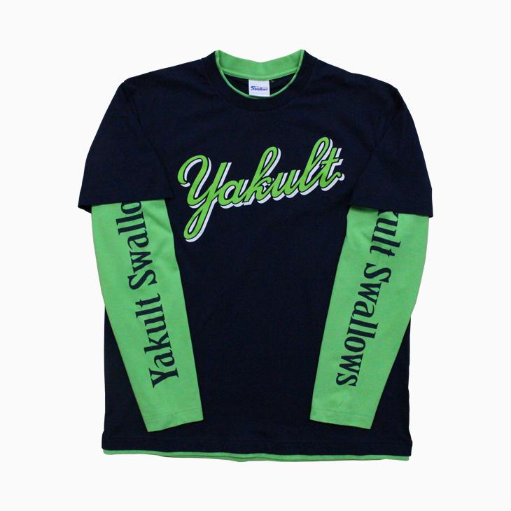 フェイクレイヤードTシャツ(Yakult)
