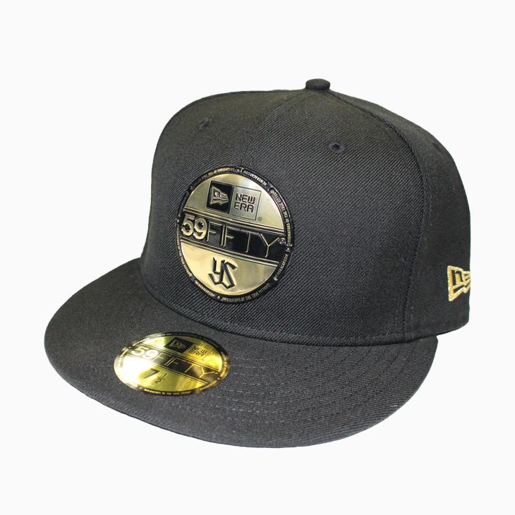 ニューエラ59FIFTY(ブラックメタリックゴールド)