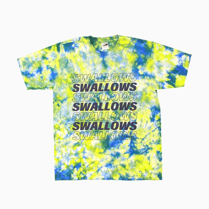 SwallowsタイダイTシャツ(ライム×ブルー)