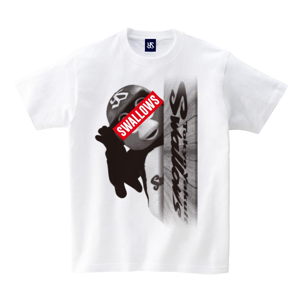 目隠しつば九郎Tシャツ