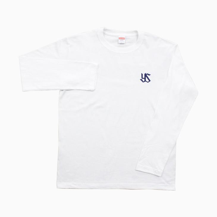 ワイドロゴプリントロングTシャツ(ホワイト)