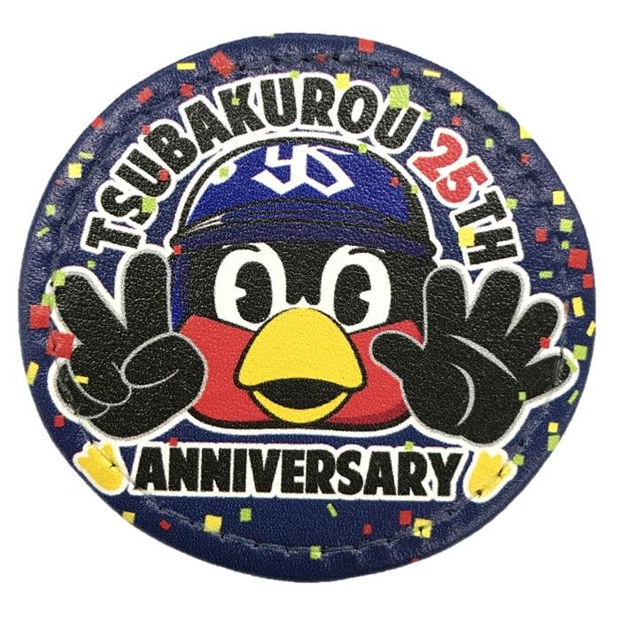 つば九郎25周年ロゴ合皮バッジ