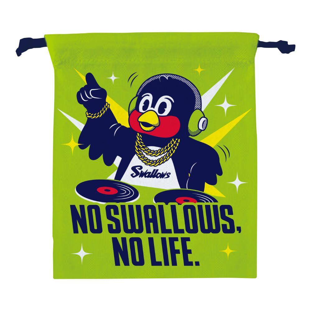 DJつば九郎巾着(NO SWALLOWS, NO LIFE.)