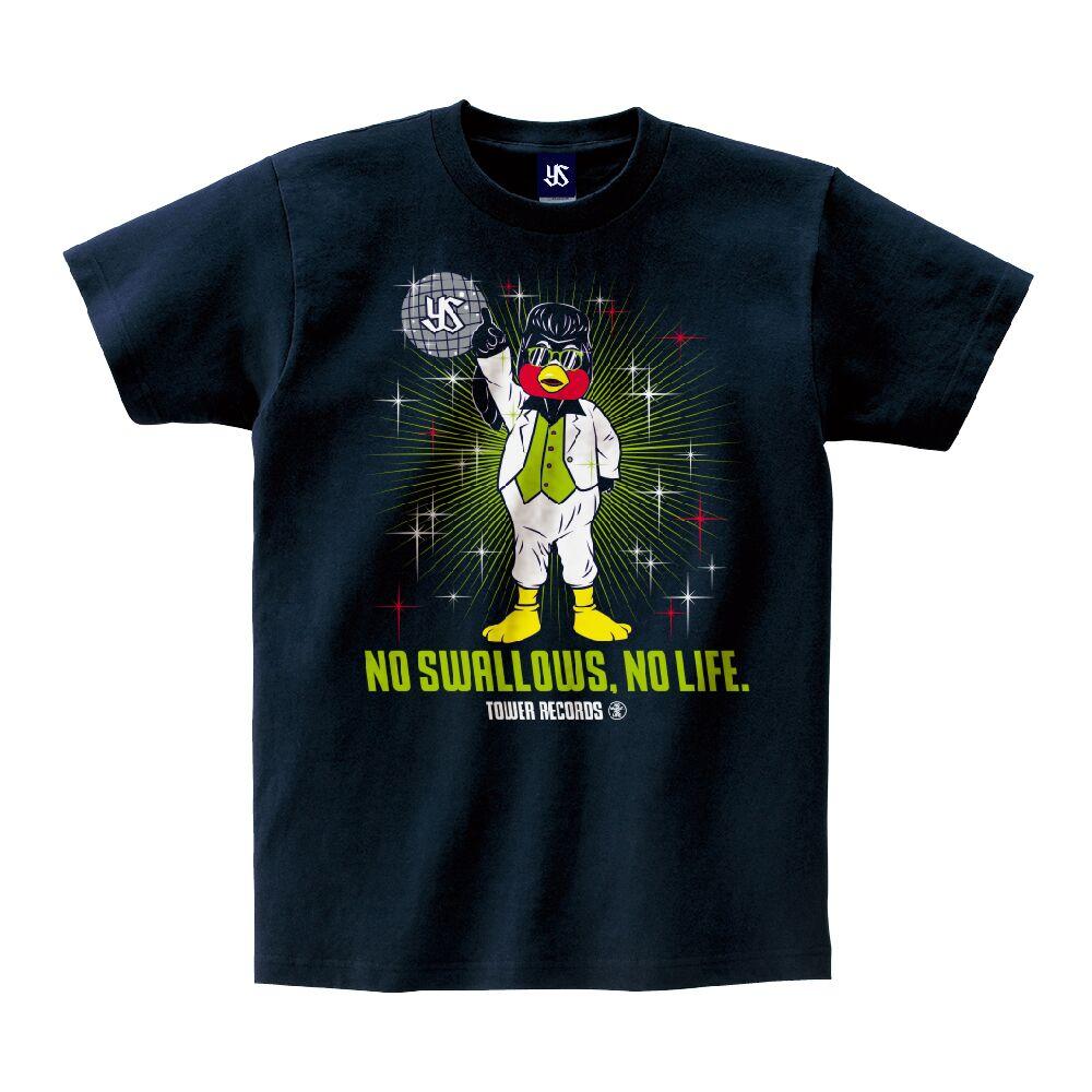 ディスコつば九郎Tシャツ(NO SWALLOWS, NO LIFE.)