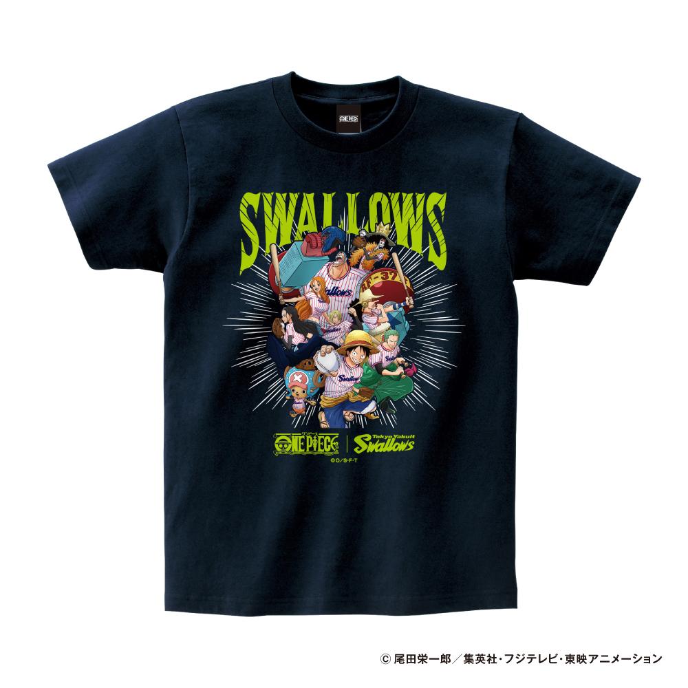 ワンピース×スワローズTシャツ(麦わらの一味)Kids