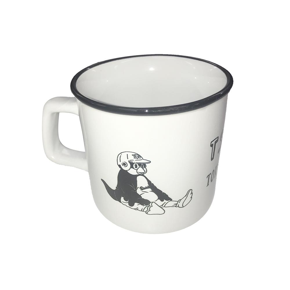 つば九郎陶器マグカップ