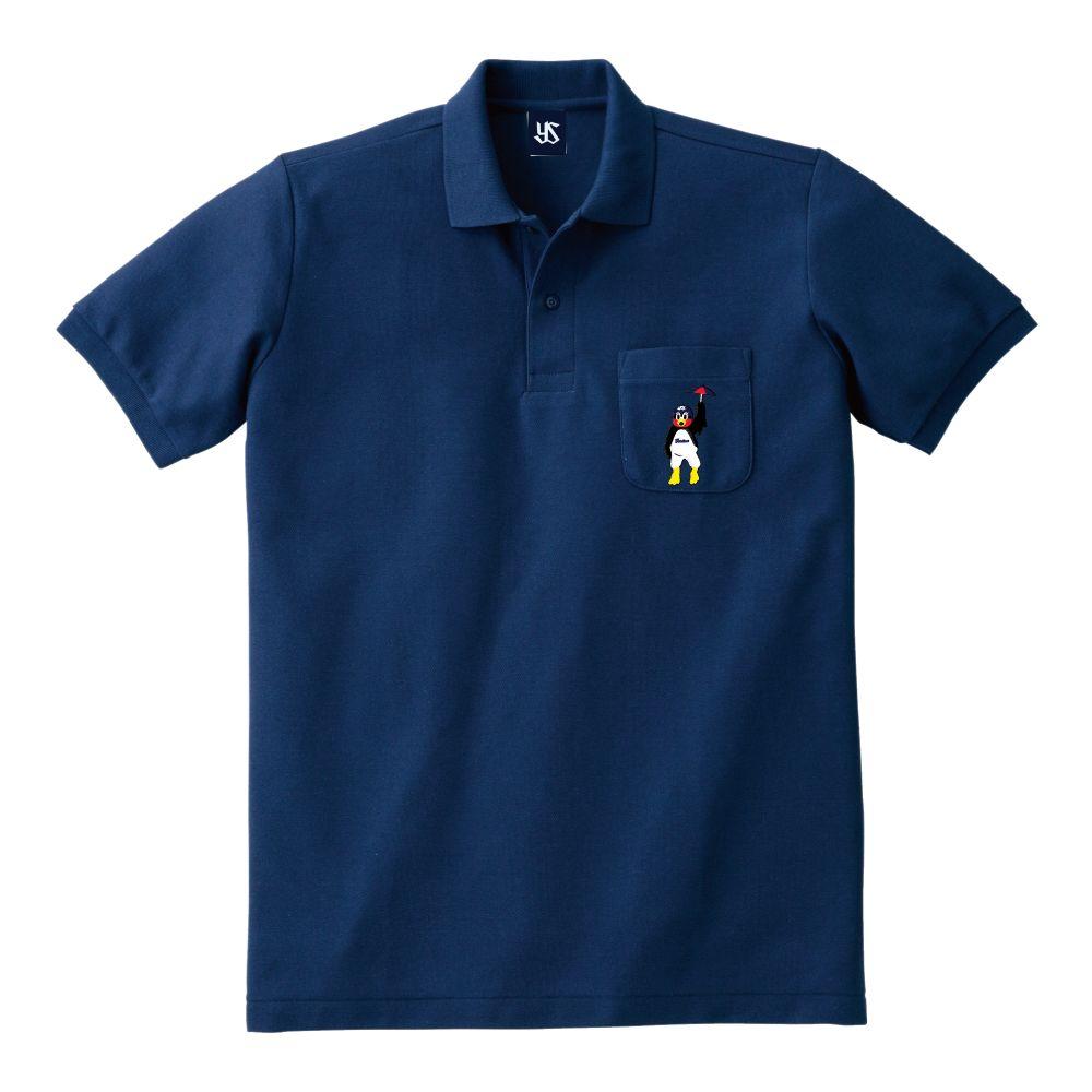 ポケット刺繍ポロシャツ(舞い降りるつば九郎)