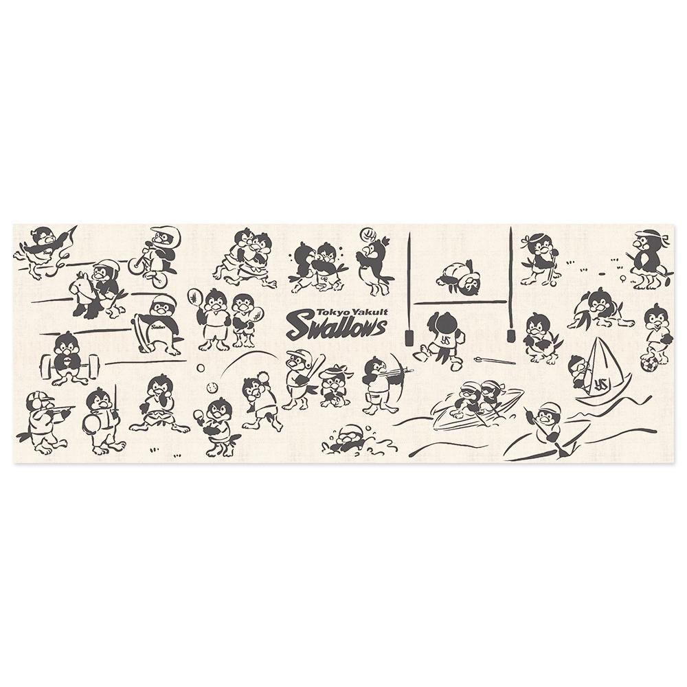 手拭い燕鳥獣戯画2020