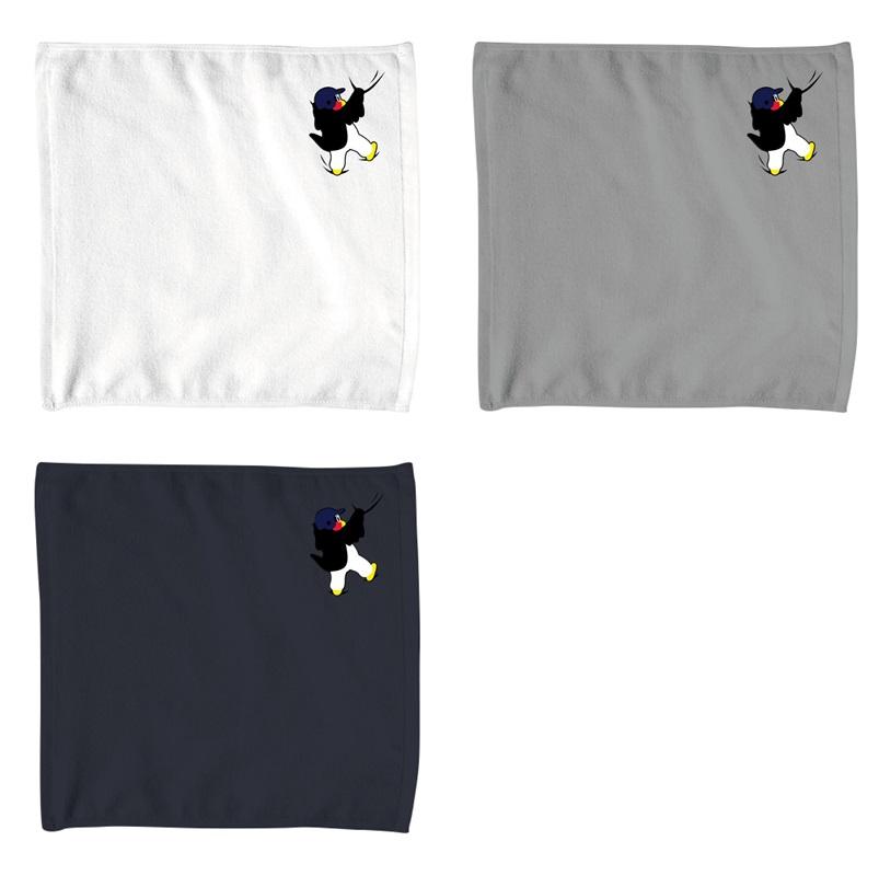 ワンポイント刺繍ハンドタオル(しがみつくつば九郎)