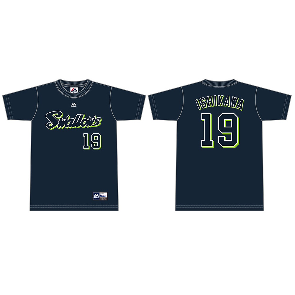 ネーム&ナンバーTシャツ(ネイビー)19石川