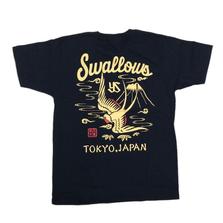 燕スカジャン風Tシャツ