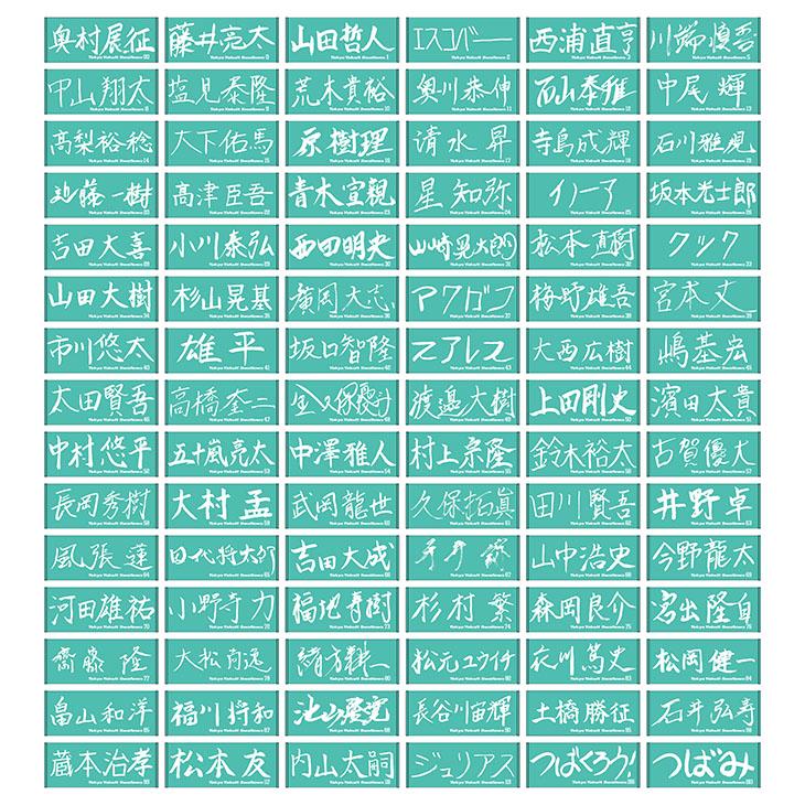 【イケメン総選挙投票権付全選手対応】特別直筆デザインバスタオル(ターコイズブルー)
