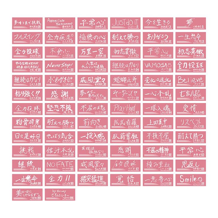 【イケメン総選挙投票権付全選手対応】特別直筆好きな言葉デザインフェイスタオル(サーモンピンク)