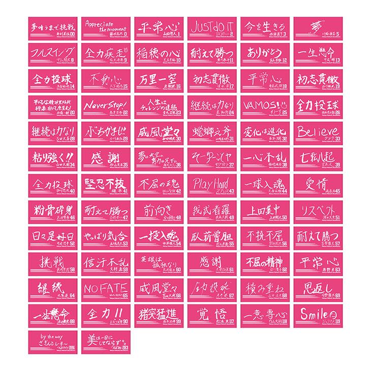 【イケメン総選挙投票権付全選手対応】特別直筆好きな言葉デザインバスタオル(ビビットピンク)