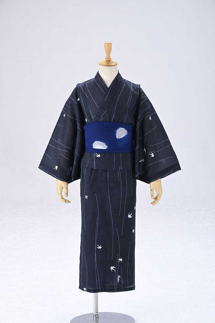 2020スワローズ子供浴衣男児120cm(燕柄)
