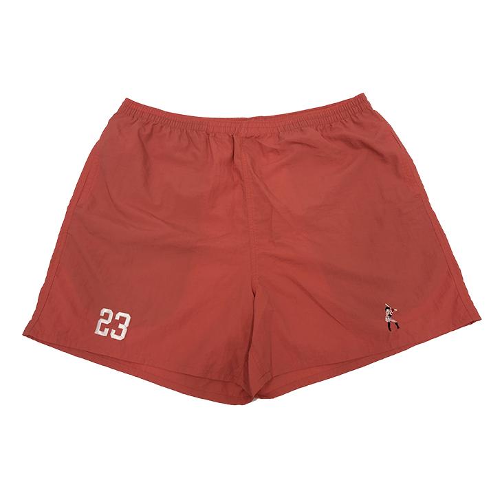 選手刺繍ショートパンツ(コーラルピンク)