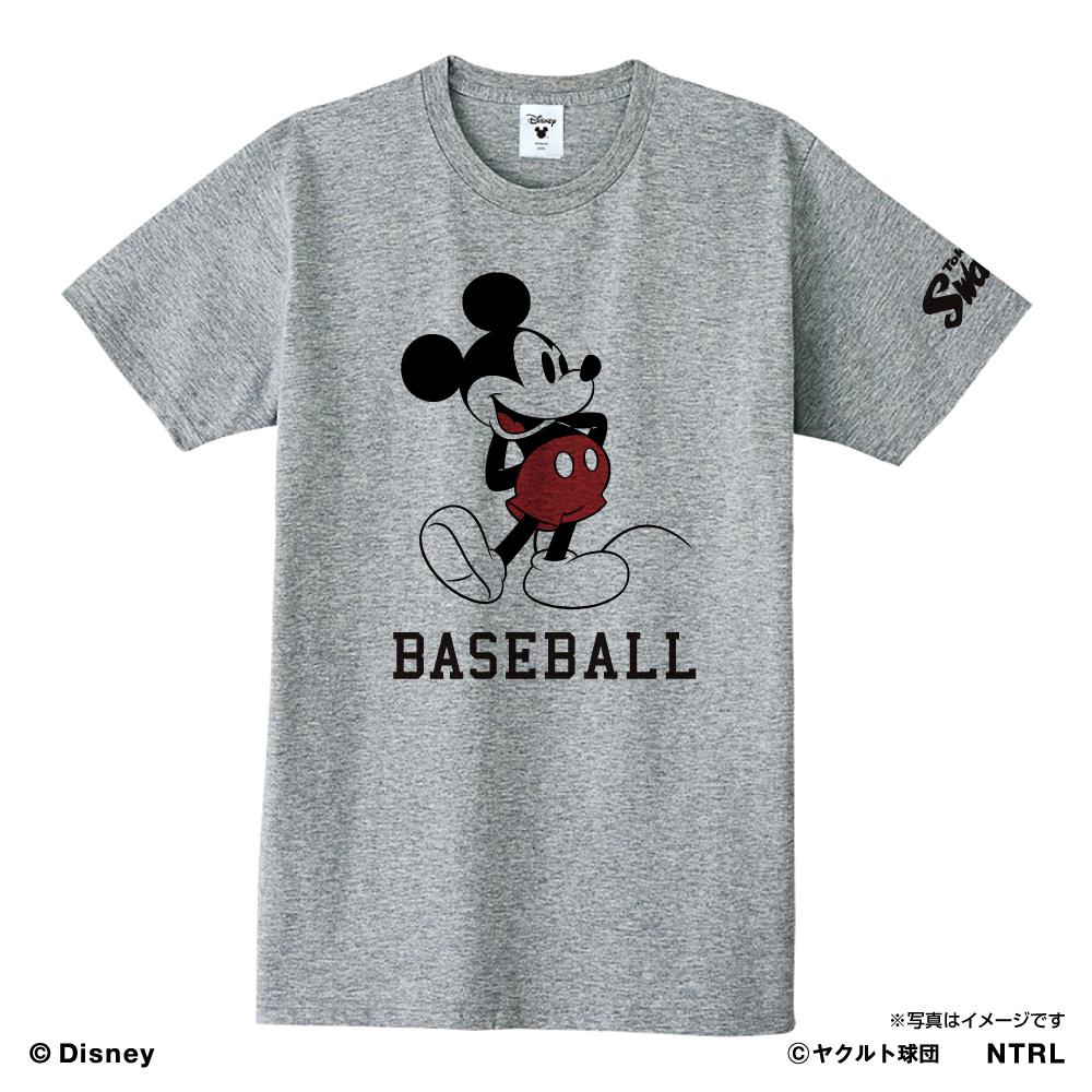 スワローズ×ミッキーマウスBASEBALL Tシャツ(杢グレー)