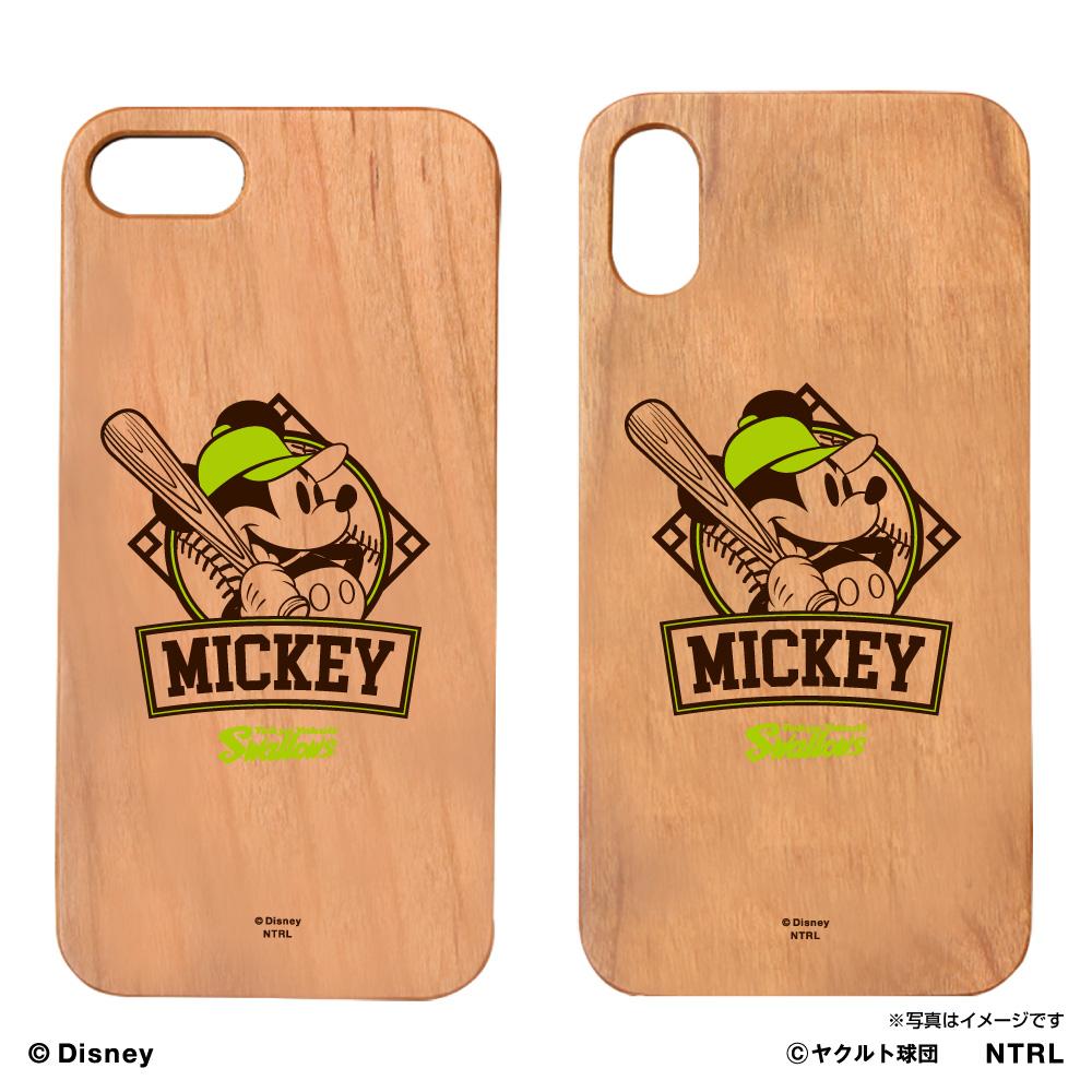 スワローズ×ミッキーマウス EMBLEMウッドiPhoneケース