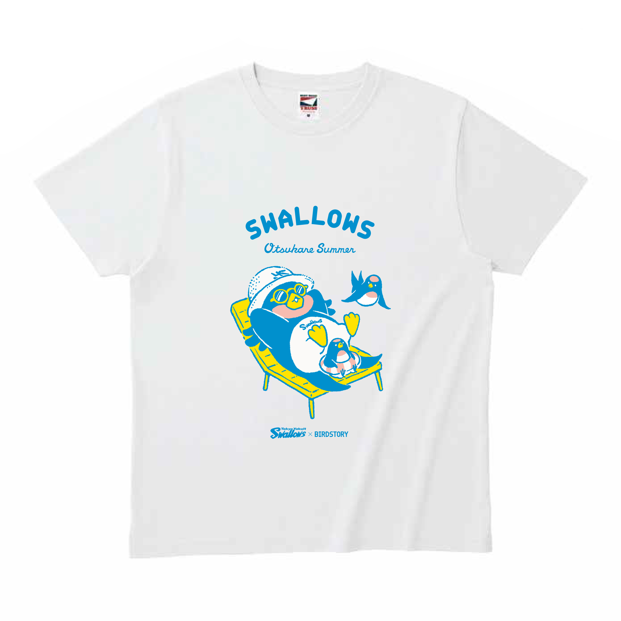 SWALLOWS×BIRDSTORY (ビーチ) Tシャツ