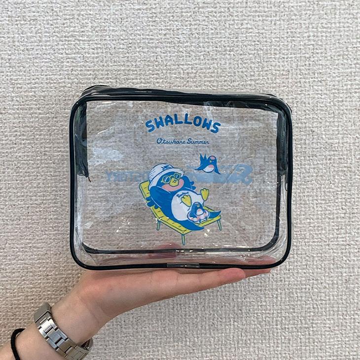 SWALLOWS×BIRDSTORY (ビーチ) ビニールポーチ