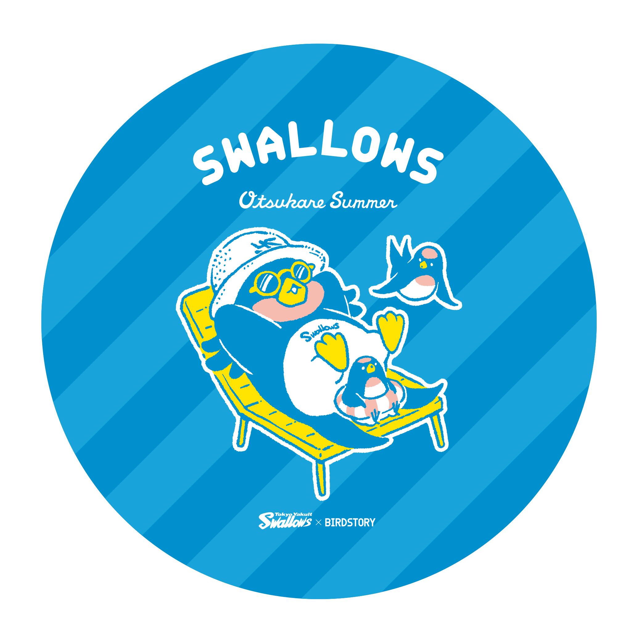 SWALLOWS×BIRDSTORY (ビーチ) ステッカー